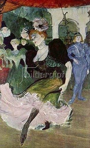 Henri de Toulouse-Lautrec: Marcelle Lender, den Bolero tanzend (Detail). Um 1895