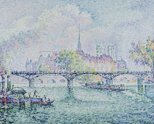 Paul Signac: Paris, Blick zur Ile de la Cité. 1913