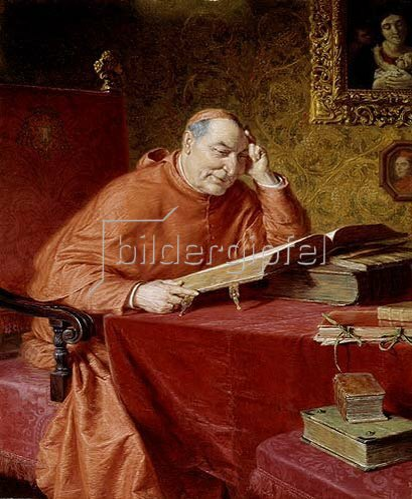 Eduard Grützner: Lesender Kardinal.