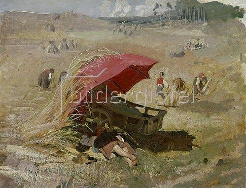 Franz von Lenbach: Der rote Schirm. Um 1860