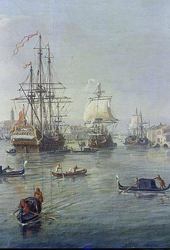 Gaspar Adriaens van Wittel: Die Hafeneinfahrt von Venedig.