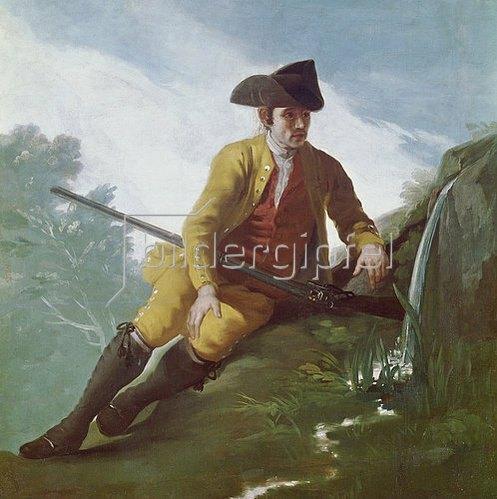 Francisco José de Goya: Jäger an der Quelle. 1786-88