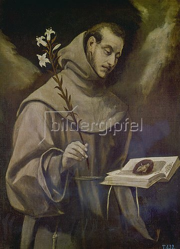 Greco El (Dom.Theotokopoulos): Hl. Antonius. Um 1586