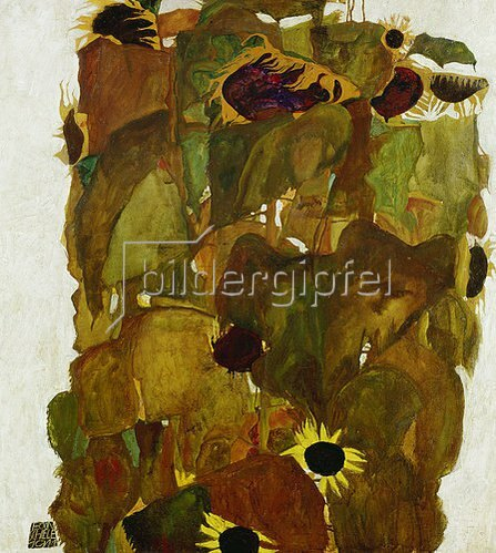 Egon Schiele: Sonnenblumen. 1911