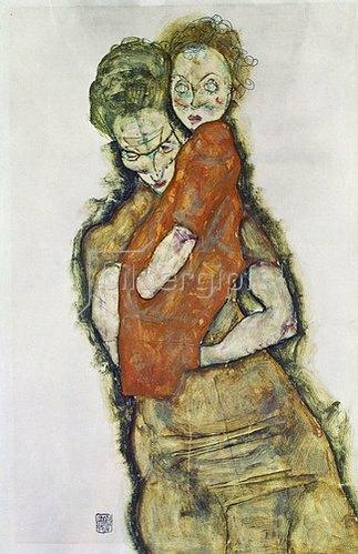 Egon Schiele: Mutter mit Kind. 1914