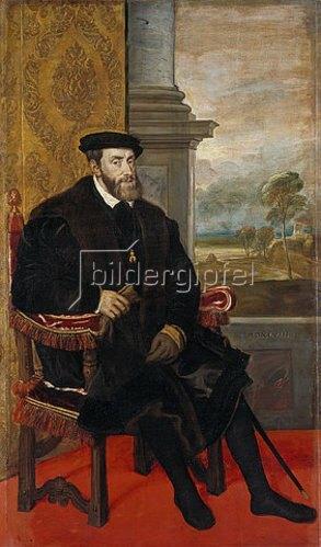 Tizian (Tiziano Vecellio): Kaiser Karl V.  1548.