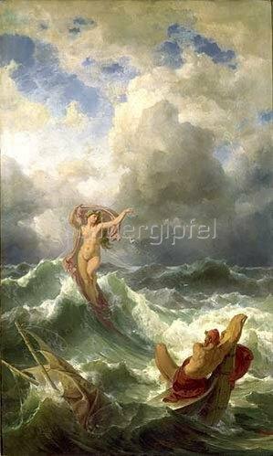 Friedrich Preller d.Ä.: Leukothea und Odysseus. 1863.