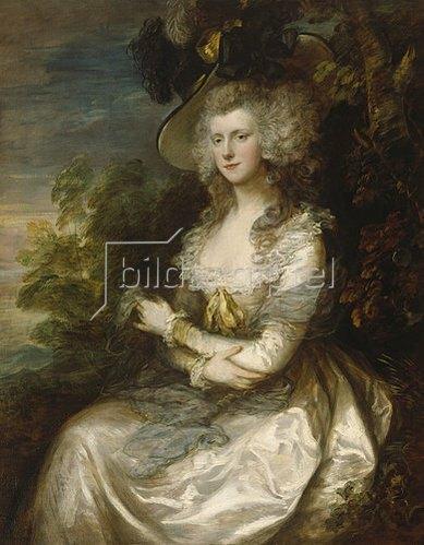 Thomas Gainsborough: Bildnis Mrs.Thomas Hibbert. 1786.