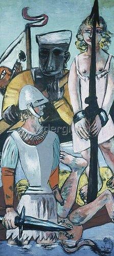 Max Beckmann: Triptychon: Die Versuchung (des hl. Antonius), 1936/37. Linker Flügel.