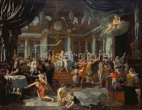 Gerard de Lairesse: Aeneas beim Festmahl der Dido.