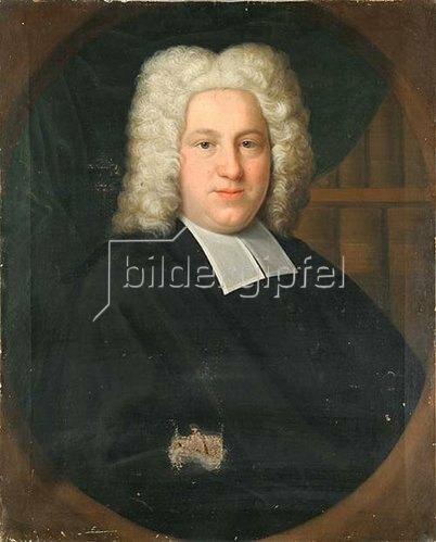 Franz Lippold: Porträt eines unbekannten Herren aus der Familie van der Deeken (Decken). 1729
