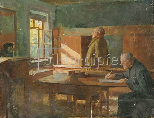 Otto Rasch: Goethe und Eckermann. Um 1920