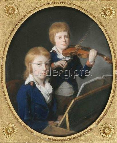 Johann Heinrich Schröder: Doppelporträt der Brüder Johann Peter und Friedrich Wilhelm Pixis. 1800