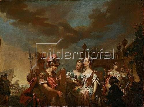 Johann Conrad Seekatz: Dido empfängt Aeneas. Wohl spätes 18. Jh.