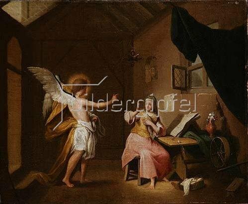 Johann Conrad Seekatz: Verkündigung. Wohl um 1755