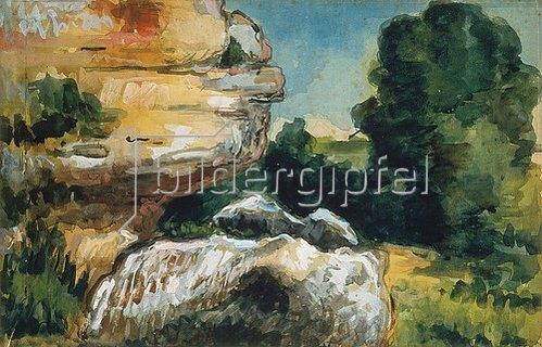 Paul Cézanne: Landschaft mit Felsen (Paysage de rocher).