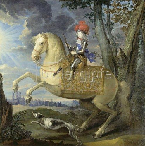 Deutsch: Maximilian III. als Knabe. Um 1735.