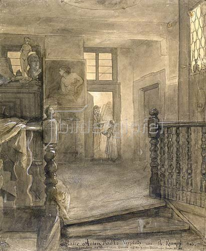 Peter Philipp Rumpf: Maler Anton Radls Vorplatz. 1846