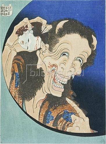 Katsushika Hokusai: Warai Hannya. Lachender Dämon.