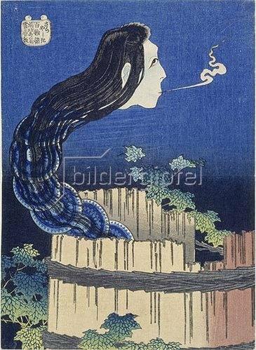 Katsushika Hokusai: Sara yashiki.Der Tellerpalast.