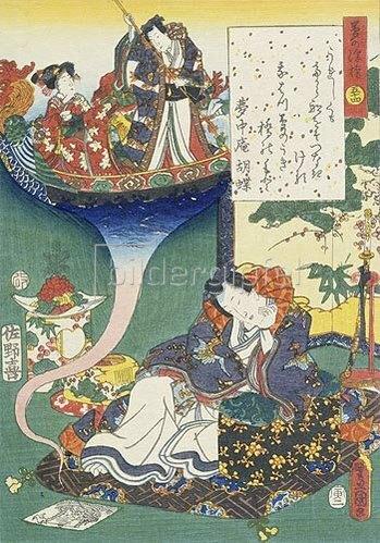 Utagawa Kunisada: Aus der Serie: Ima Genji nishiki-e awase.