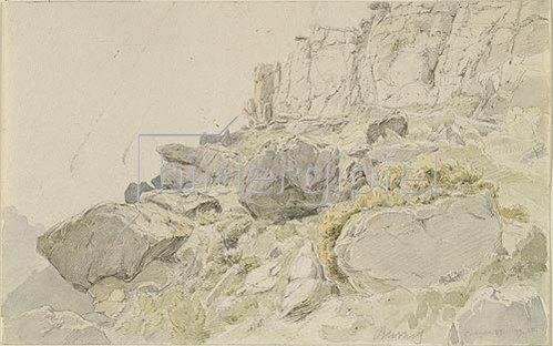 Carl Peter Burnitz: Felsige Landschaft in Spanien.