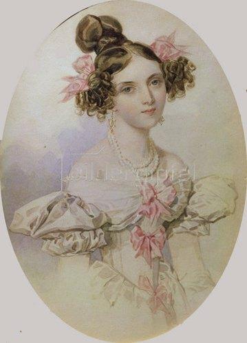 Peter Fedorowitsch Sokolov: Fräulein Sollogub, Bildnis, um 1830