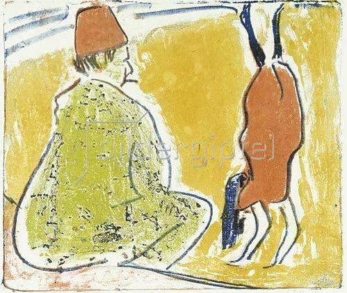 Ernst Ludwig Kirchner: Parterre-Akrobatin und Clown. 1909