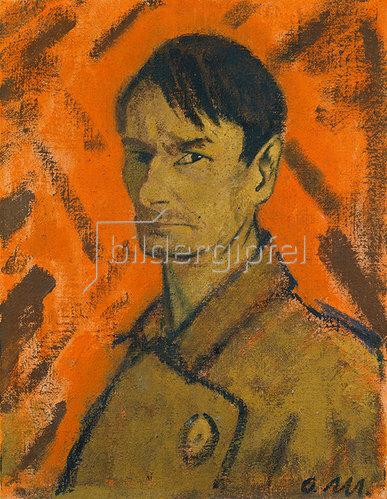 Otto Mueller: Selbstbildnis 1921. Leimfarbe/Lwd., 71 x 54,7 cm.