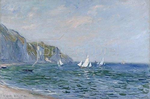 Claude Monet: Klippen und Segelschiffe bei Pourville.