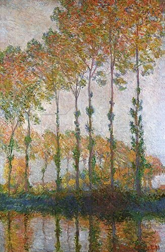 Claude Monet: Pappeln am Ufer der Epte im Herbst. 1891