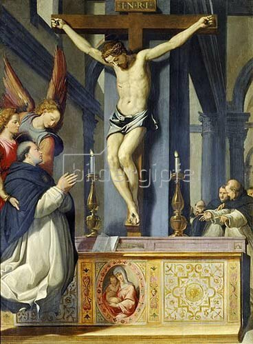 Santi di Tito: Die Vision des Heiligen Thomas.