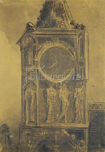 Odilon Redon: Die dumpfe Glocke von Sainte Gudule.