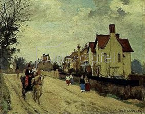 Camille Pissarro: Straße in Upper Norwood. 1871.
