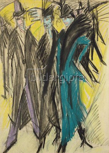 Ernst Ludwig Kirchner: Berliner Straßenszene. 1914