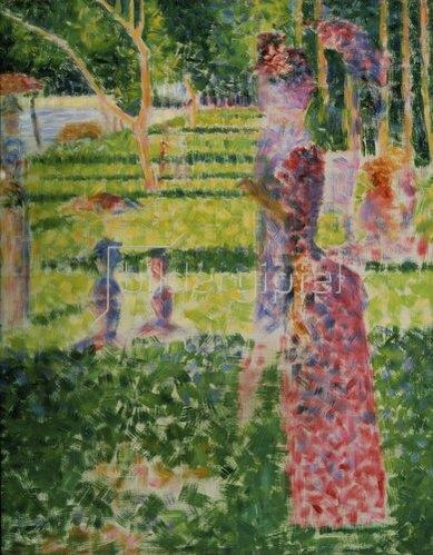 Georges Seurat: Promenierendes Paar. Um 1884/1885.
