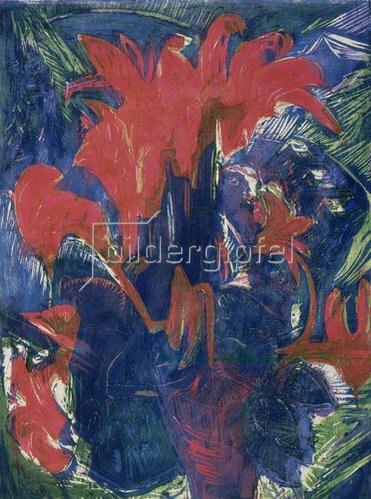 Ernst Ludwig Kirchner: Alpenveilchen. 1919