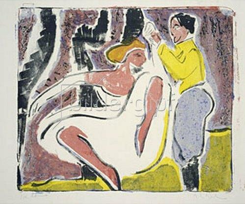 Ernst Ludwig Kirchner: Russisches Tänzerpaar. 1909