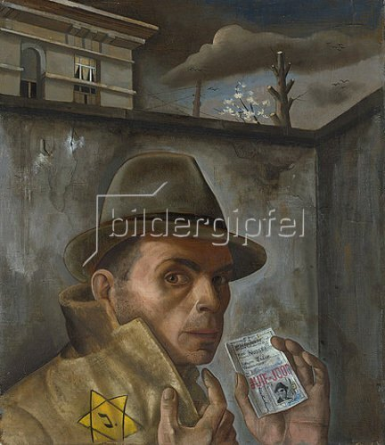 Felix Nußbaum: Selbstbildnis mit Judenpaß. 1943.