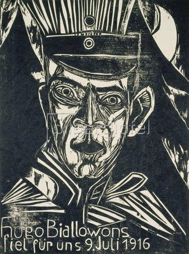 Ernst Ludwig Kirchner: Hugo Biallowons fiel für uns 9. Juli 1916.