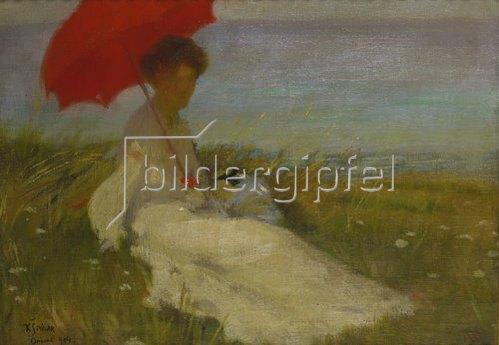 Karel Spillar: Dame mit Sonnenschirm. 1904