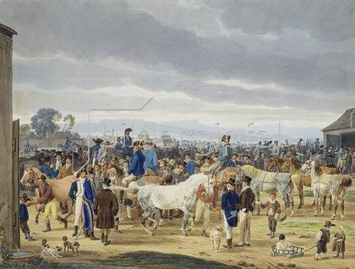 Wilhelm von Kobell: Pferdemarkt.