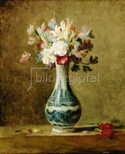 Blumen In Einer Vase Von Jean Baptiste Siméon Chardin Kunstdruck