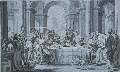 Johann Wolfgang Baumgartner: Gastmahl des Pharisäers.