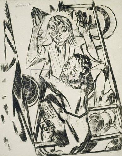 Max Beckmann: Jakob ringt mit dem Engel. 1920