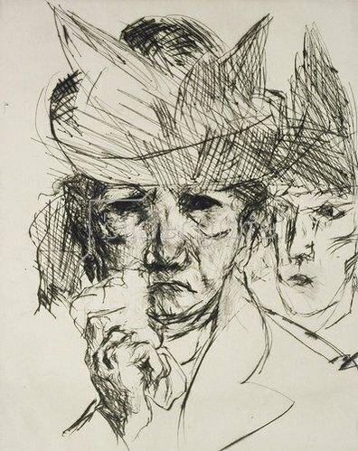 Max Beckmann: Weinende Frau. 1914