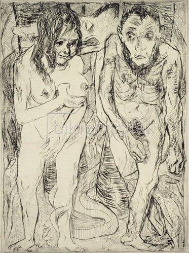 Max Beckmann: Adam und Eva. 1917
