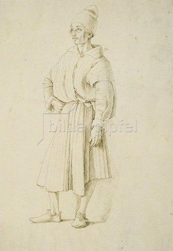 Gentile Bellini: Orientale mit spitzer Mütze, nach links gewandt.