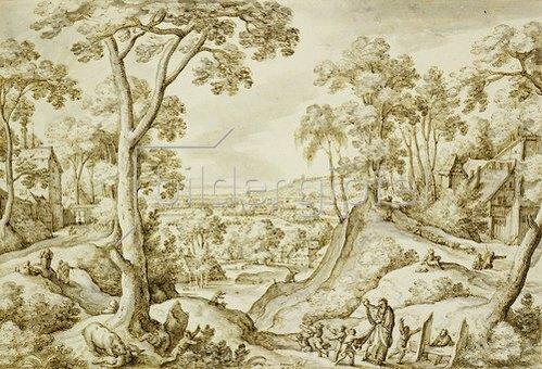 Hans Bol: Landschaft mi dem Propheten Elisa.