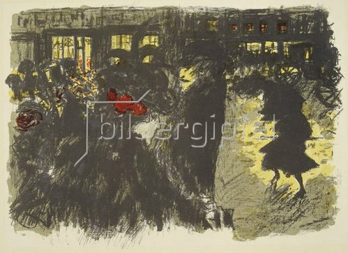 Pierre Bonnard: Place le soir. (Platz am Abend)